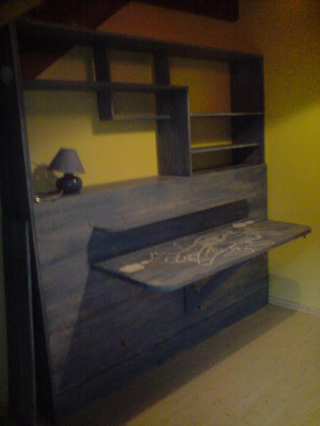 Les lits creations for Bureau qui se transforme en lit